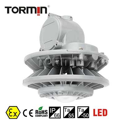 ATEX seamless anti-corrosion 60W indoor Lamp pole mounted explosion proof LED dock light