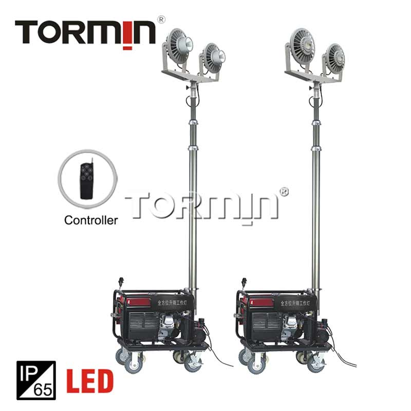 Two-lamp High-tech Remote Control Mobile Light Tower